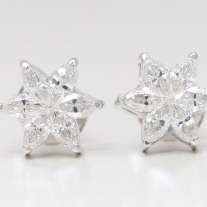 18K Marquise Diamond Earrings 1.16 Ct C19000273